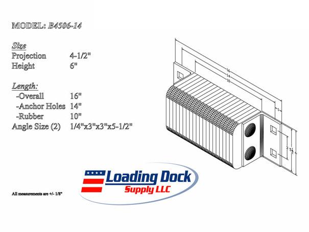 Loading Dock Equipment B4506 14 Dock Bumper 4 5 X 6 X 14