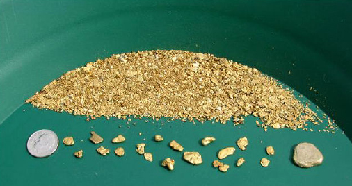 Gold Nugget In Pan