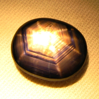 Purple blue twelve ray star Sapphire