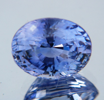 Mild violet blue Ceylon sapphire