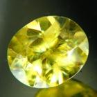untreated russian sphene titanite in oval 1 carat
