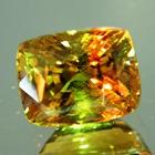 giant green to orange alexandrite certified