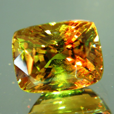 giant green to orange alexandrite certified