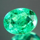 neon green emerald oval fine color quality oil only