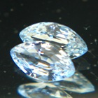 Bright sky blue pair of African sapphire