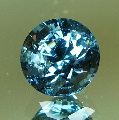 Cold steel blue Ceylon spinel