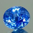 Lively cornflower blue Ceylon sapphire