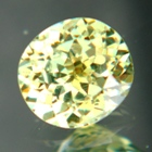 yellow green demantoid clean and fresh