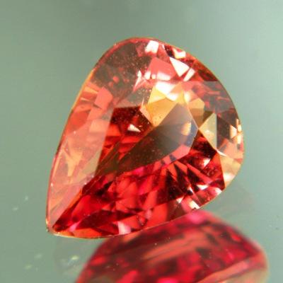 Caramel orange Ceylon sapphire