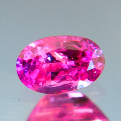 Neon purplish pink Ceylon sapphire