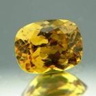 Golden canary yellow African sapphire