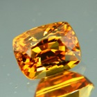 Golden orange yellow Ceylon sapphire