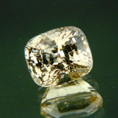 Bright golden yellow Ceylon sapphire