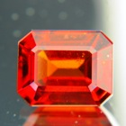 giant orange hessonite in emerald cut