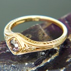 untreated sapphire gold ring
