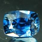 Cold cornflower blue Tanzanian sapphire