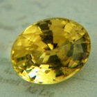 Ceylon Chrysoberyl with fine yellow hue and GIA report