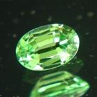 fine clean green garnet certified as tsavorite by IGI