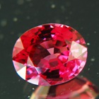 Sparkly deep red Ceylon spinel