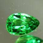 pear tsavorite in best green neon untreated