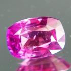 magenta pink Ceylon sapphire untreated