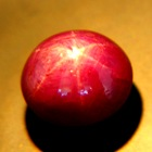 Rich rose red North Carolina Star Ruby
