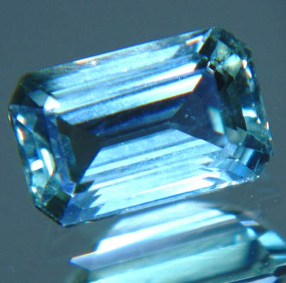 Cold lake blue Ceylon sapphire