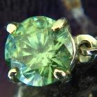untreated demantoid 2 carats in errings