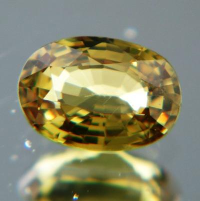 Olive yellow Ceylon sapphire