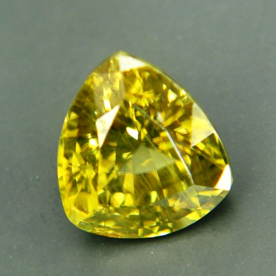 Vivid greenish yellow Ceylon Zircon.