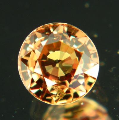 Golden cinnamon African sapphire
