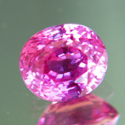 Hot pink Ceylon sapphire