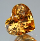 Lively orange yellow African sapphire