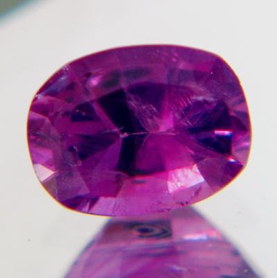 Silky mild pinkish purple Kashmir sapphire