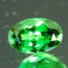 long oval dark green tsavorite grossularite garnet over one carat