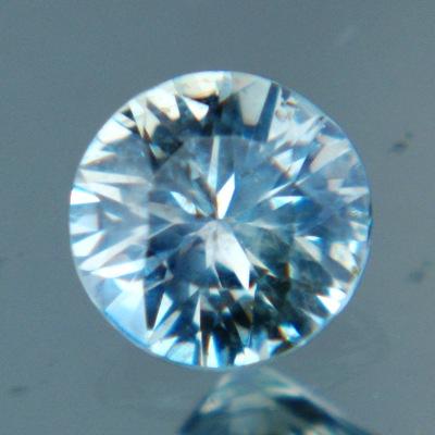 Silvery bluish green Montana sapphire