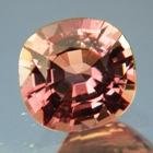 Golden copper orange Ceylon sapphire