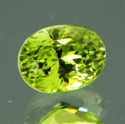 neon green diamond like garnet