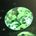 merelani green garnet precsion cut in germany