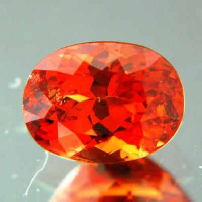 Neon orange African spessartite