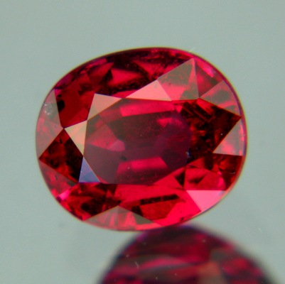 GRS certified unheated oval ruby