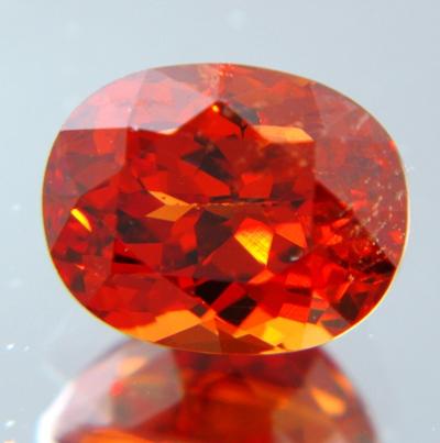 Pure orange African spessartite