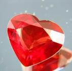 Deep reddish orange Ceylon sapphire