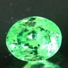 oval green tsavorite grossularite garnet under one carat