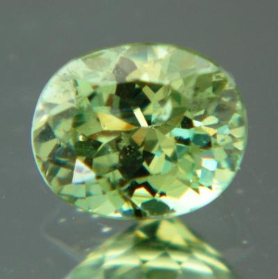 adamantine luster from green garnet demantoid