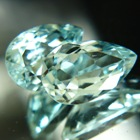 blue green pear shape seven carat in exactly matching pair aquamarines