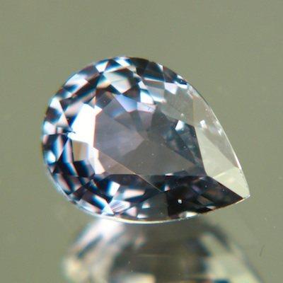 Steel green blue Ceylon sapphire