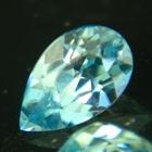 grean blue Australian Zircon in drop shape