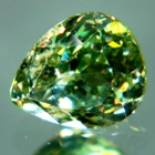 pear grass green demantoid for pendant