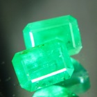 oil only zimbabwe emerald vivid green emerald shape over 2 carat in exactly matching pair